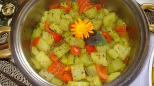 Gurkengemüse mit Peperoni